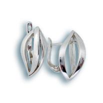 Сребърни обеци без камъни - 132295