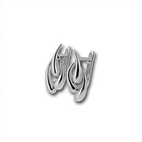 Сребърни обеци без камъни - 133866
