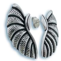 Сребърни обеци без камъни - 131795