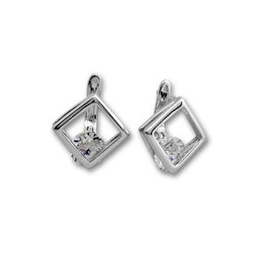 Oбици с камъни от сребро - 121478