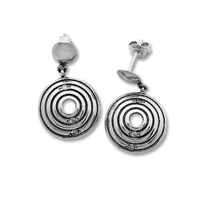 Oбици с камъни от сребро - 121994