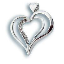 Висулки от сребро с камък - 176276