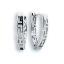 Сребърни обеци без камъни - 133175