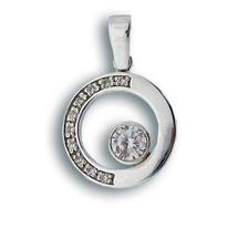 Висулки от сребро с камък - 176547