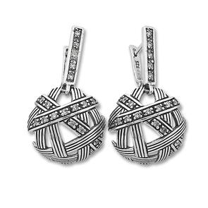 Oбици с камъни от сребро - 137988