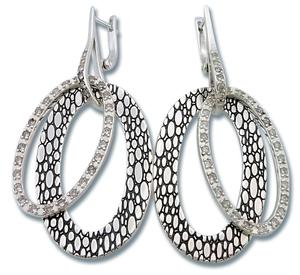 Oбеци с камъни от сребро 140842