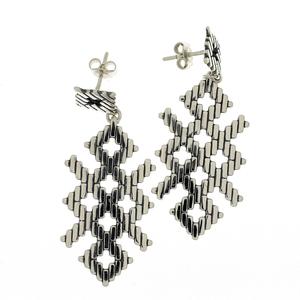 Сребърни обеци без камъни - 131104