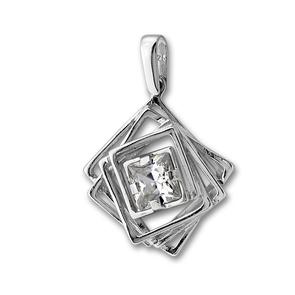 Висулки от сребро с камък - 182917