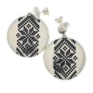 Сребърни обеци без камъни - 131102