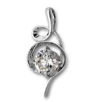 Висулки от сребро с камък - 184489