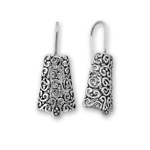 Сребърни обеци без камъни - 133033