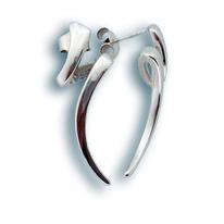 Сребърни обеци без камъни - 132270