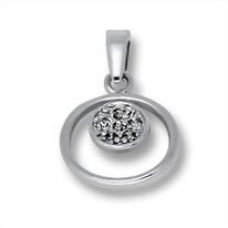Висулки от сребро с камък - 186446