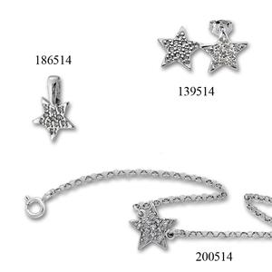 Сребърни бижута - комплект 8000514