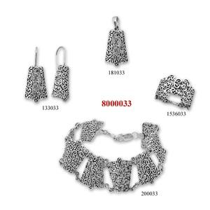 Сребърни бижута - комплект 8000033