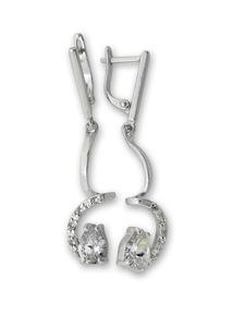 Oбици с камъни от сребро - 139601