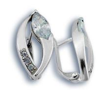 Oбици с камъни от сребро - 137790