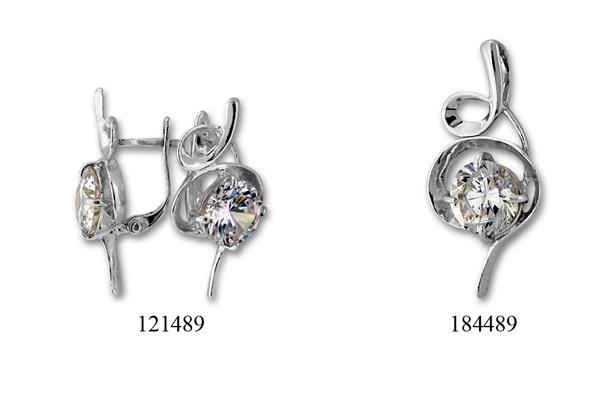 Сребърни бижута - комплект 8000489