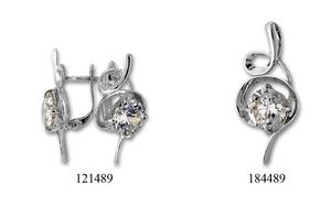 Сребърни бижута - комплекти - 8000489