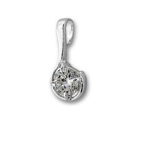 Висулки от сребро с камък - 184490