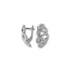 Сребърни обици без камъни - 133979