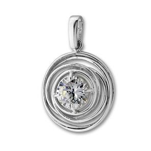 Висулка от сребро с камък 193916