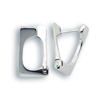 Сребърни обеци без камъни - 133113