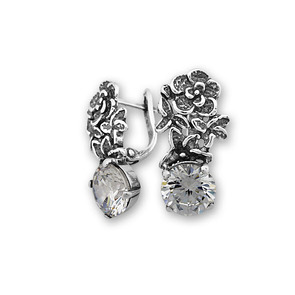 Oбици с камъни от сребро - 122028