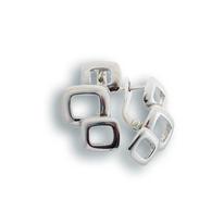 Сребърни обеци без камъни - 132735