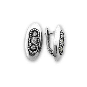 Oбици с камъни от сребро - 138073