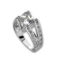 Пръстени с камък от сребро - 1615231