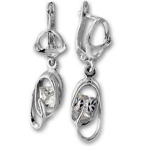 Oбици с камъни от сребро - 121932