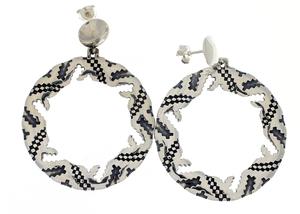 Сребърни обеци без камъни - 131652