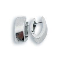 Сребърни обеци без камъни 132168
