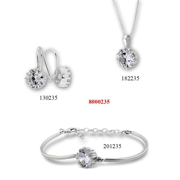 Сребърни бижута - комплект 8000235