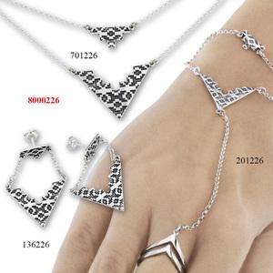 Сребърни бижута - комплект 8000226