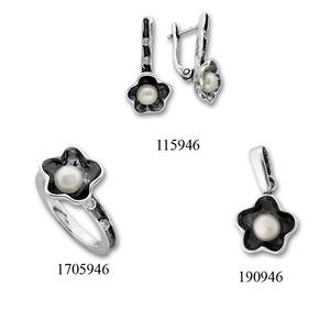 Сребърни бижута - комплект 8000946