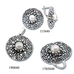 Сребърни бижута - комплект 8000840
