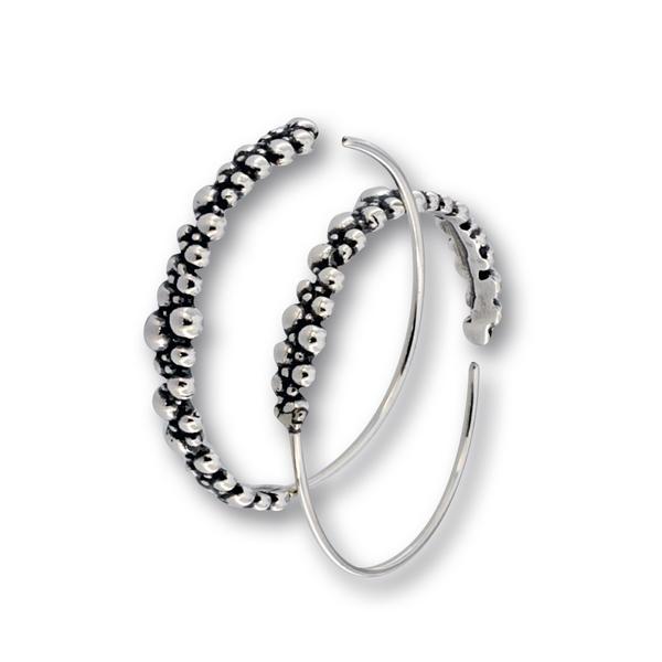 Сребърни обеци без камъни 133324