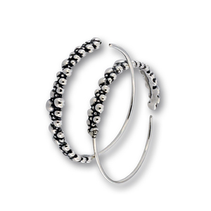 Сребърни обеци без камъни - 133324