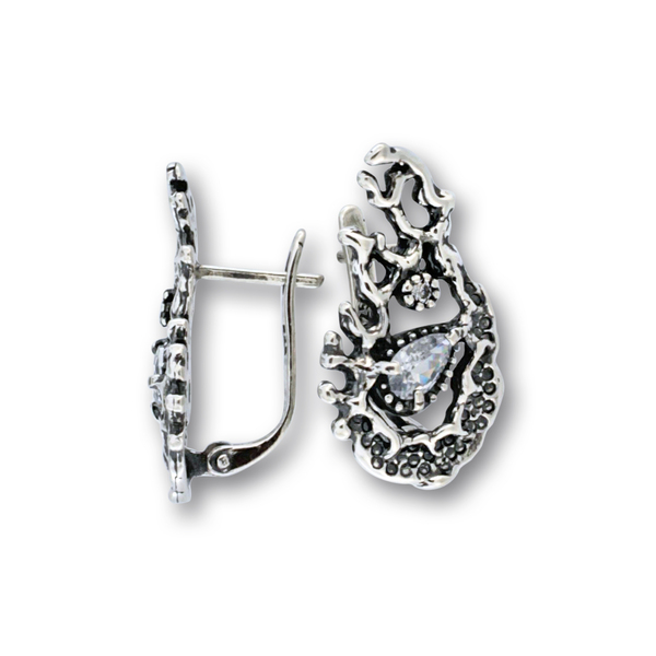 Oбеци с камъни от сребро 122335