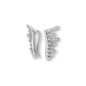 Сребърни обеци без камъни 111234