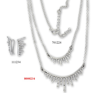 Сребърни бижута - комплект 8000234