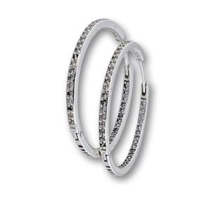 Oбеци с камъни от сребро 139334