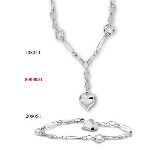 Сребърни бижута - комплект 8000051
