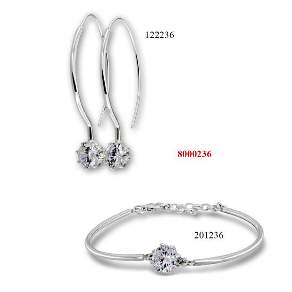 Сребърни бижута - комплект 8000236