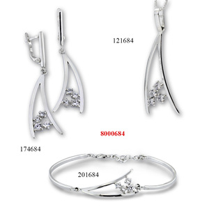 Сребърни бижута - комплект 8000684