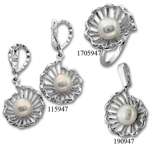 Сребърни бижута - комплект 8000947