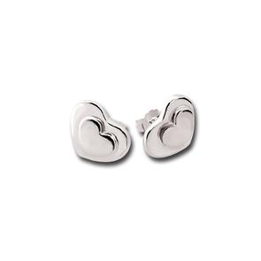Сребърни обеци без камъни - 133372