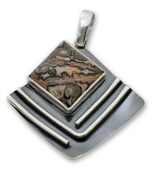 Висулки  уникати от сребро и полускъпоценни камъни 8983238